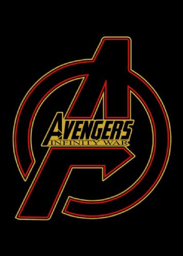 2010's Movie - THE AVENGERS - INFINITY WAR LOGO RED / canvas print - self adhesive poster - photo